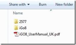 igo8 folder