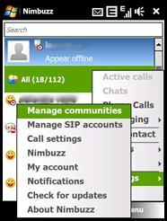 nimbuzz windows mobile HTC 2