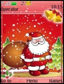 Download Themes – SANTA IN RED – Tema pentru NOKIA | Download