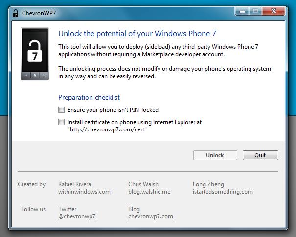 Unlock Windows Phone 7