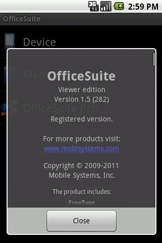 OfficeSuite Viewer v1.5.282