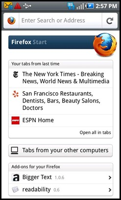 Firefox Mobile Android
