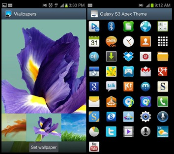 Galaxy S3 Apex Theme v1.4 APK
