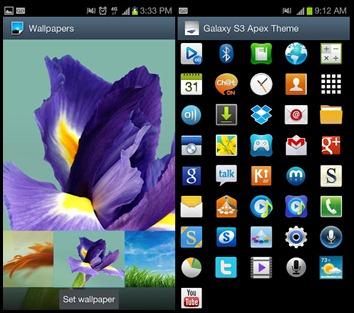 에이팩 S3 갤럭시 테마 v1.4 APK