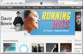 無側邊欄的iTunes
