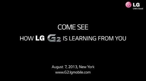 एलजी G2 वेबसाइट