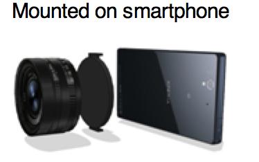 טלפון חכם של סוני עדשה