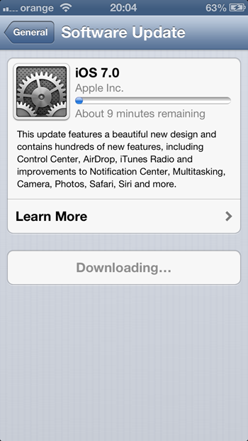 iOS 7 Software Update - iPhone 5