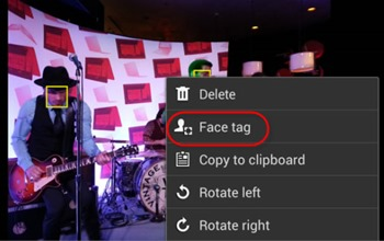 Face Tag Menu