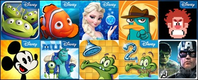 Disney Windows Phone žaidimai-Download