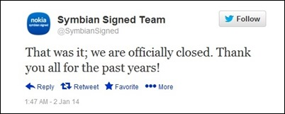 symbian-closed-tweet
