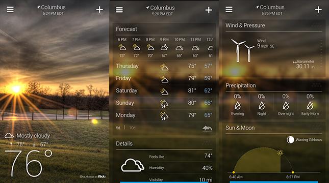 Vrchol Počasie aplikácie pre Android (The 9 Najlepšie počasie ... bb00047072d