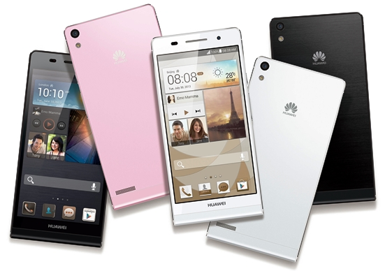Huawei Ascend smartphone P6 S thin, light and stylish