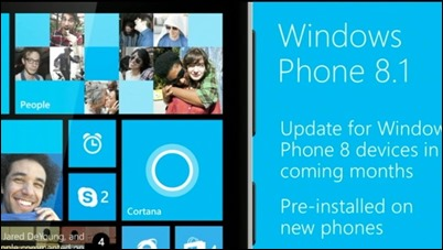 8.1 Windows Phone will be available starting June 24 2014