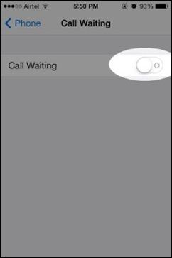 onemogočite-call-Čakajoči iPhone