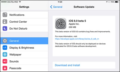 IOS的測試版8 5