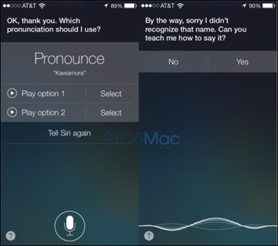 Siri-pronounciation