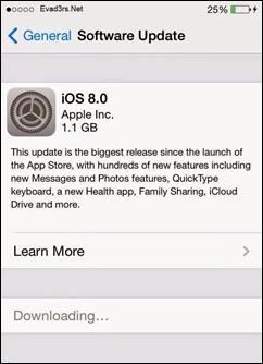 iOS的8升級