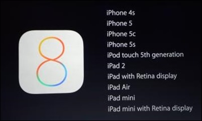 ios8 suderinamumas