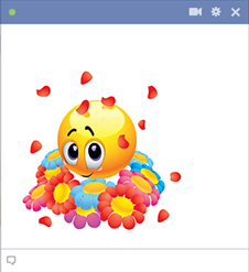 sweet-emoticon-with-flowers