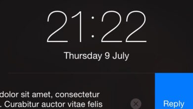 Photo of Quick Reply to Messages (SMS Quick Reply) from the Lock Screen of iOS 8 (iPhone 4s> iPhone 6)