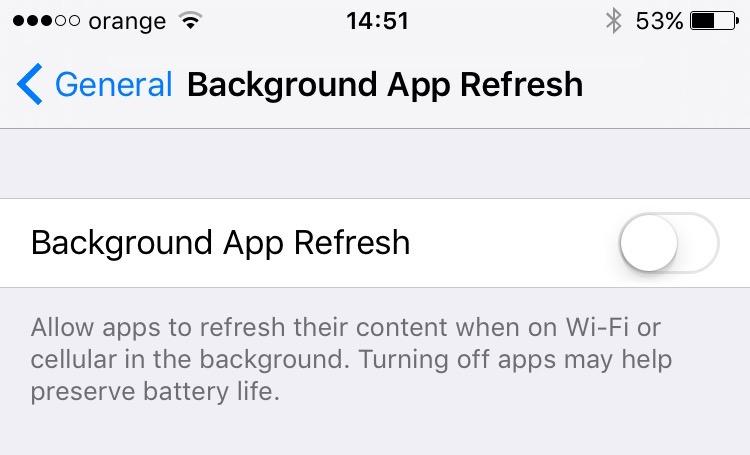 Taust Värskenda iPhone App