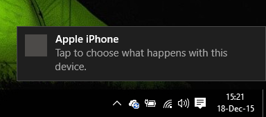 Apple iPhone Connect to Windows 10