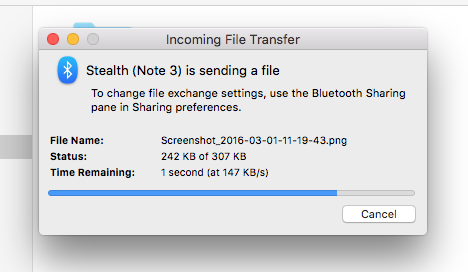 posílat soubory na Android OS X