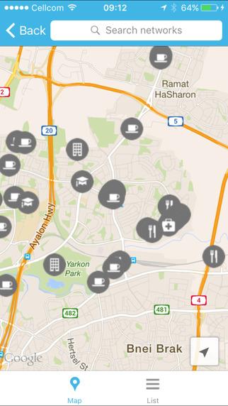 WiFi-hotspots show