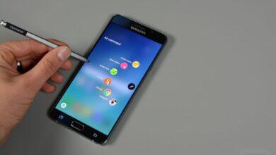 Samsung Galaxy Note 7のS-Penスタイラスの写真は、精度と速度を実現します
