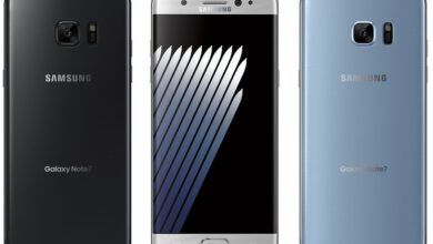 Foto Samsung Galaxy Note 7 akust on süttinud