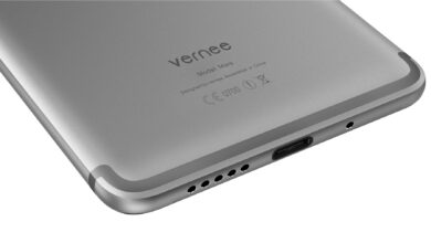 Photo of Vernee Mars, an accessible smartphone, with the camera capable of shooting with 1080p