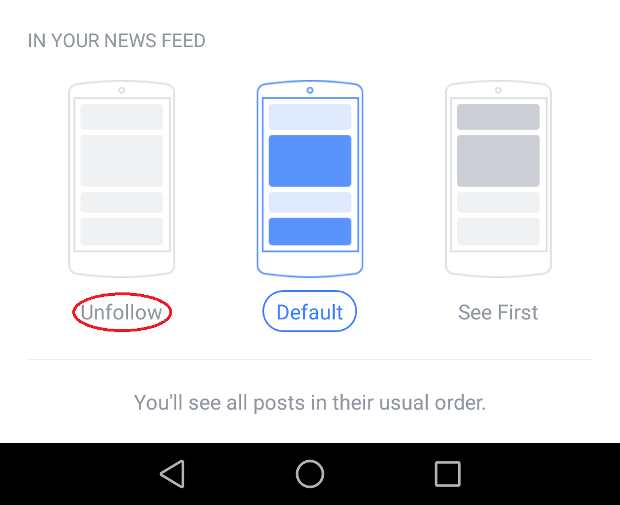 Facebook tips for not watching updates friends
