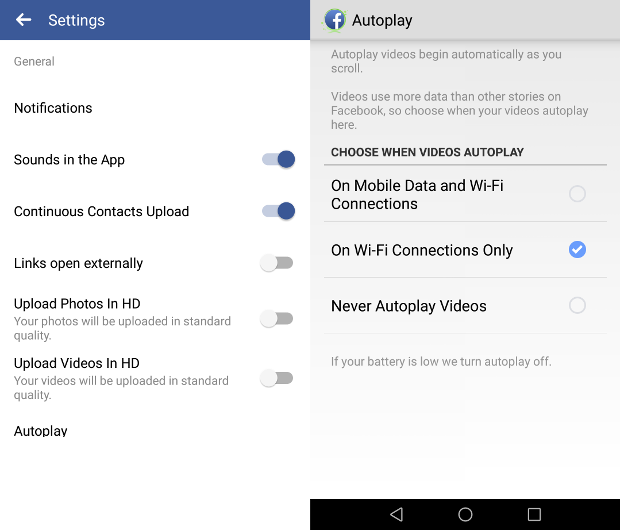 facebook videa autoplay