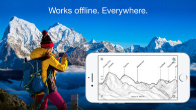 Photo of How to find the names of mountain peaks using the iPhone - PeakFinder