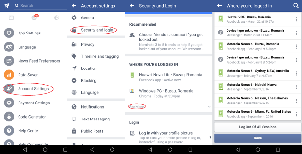 Facebook Account-Sicherheit