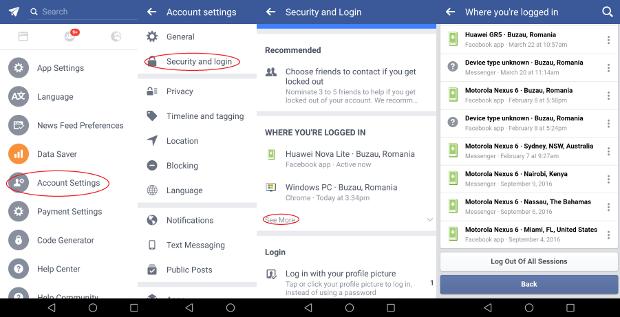 Facebook帳戶安全