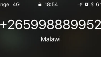 Photo of Calls from unknown numbers from Africa or distant countries (Malawi, Chad, Maldives)