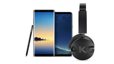 """""""Samsung Galaxy S8"""" ir """"Galaxy Note 8"""" nuotrauka ateis su naujos kartos nemokamomis AKG belaidėmis ausinėmis!"""