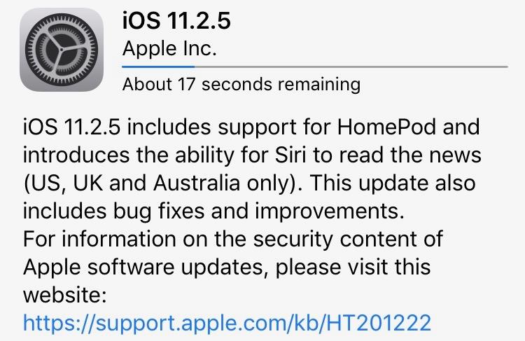 iPhone Update - iOS 11 2 5 Final & iOS 11 3 Beta - News